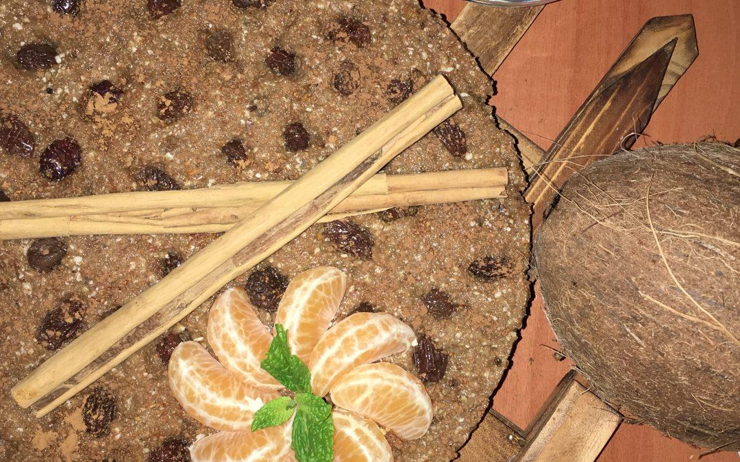 Tarta crudivegana de manzana-sin horno