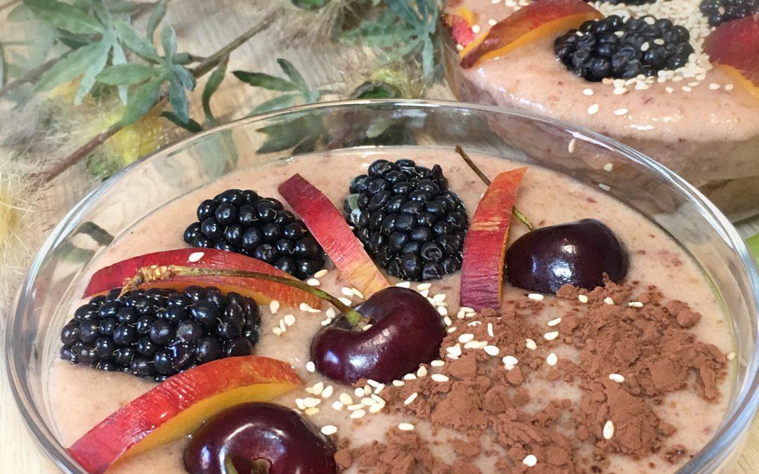 Crema de frutas Plátanos y cerezas-Smoothie bowl SOPHIÉ