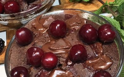 Brownie de chocolate y cerezas Rapido y facil!