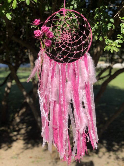 Atrapasueño color rosa